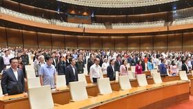 Quốc hội sáng 2-11 dưới sự chủ trì của Chủ tịch Quốc hội Nguyễn Thị Kim Ngân. Ảnh: QUANG PHÚC