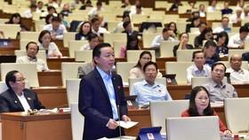 Bộ trưởng Bộ TN-MT Trần Hồng Hà. Ảnh: QUANG PHÚC