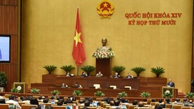 Quốc hội họp phiên toàn thể. Ảnh: QUANG PHÚC