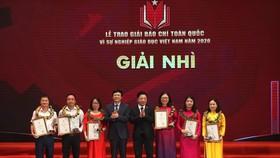 """Trao Giải báo chí toàn quốc """"Vì sự nghiệp Giáo dục Việt Nam"""" 2020"""