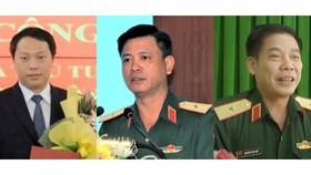 Thứ trưởng Bộ TT-TT Nguyễn Huy Dũng, Thiếu tướng Nguyễn Trường Thắng - Tư lệnh Quân Khu 7, Thiếu tướng Nguyễn Văn Gấu - Chính ủy Quân Khu 9 (Từ trái sang phải)