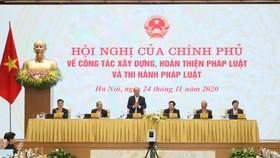 Hội nghị về công tác xây dựng, hoàn thiện pháp luật và thi hành pháp luật ngày 24-11, ảnh QUANG PHÚC