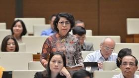 Đại biểu Quốc hội Tô Thị Bích Châu (Đoàn TPHCM) tham gia chất vấn tại Kỳ họp thứ 10, Quốc hội Khóa XIV. Ảnh: quochoi