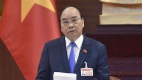 Thủ tướng Nguyễn Xuân Phúc phát biểu tại cuộc họp. Ảnh: VIẾT CHUNG