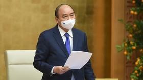 Thủ tướng chủ trì cuộc họp chiều mùng 4 tết. Ảnh: VIẾT CHUNG
