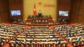 Kỳ họp thứ 11, Quốc hội khóa XIV. Ảnh: VIẾT CHUNG