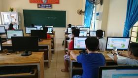 Các em học sinh thi chung kết quốc gia Violympic