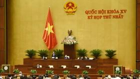 Kỳ họp thứ nhất, Quốc hội khóa XV. Ảnh: QUANG PHÚC