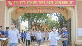 Thí sinh tham dự kỳ thi tốt nghiệp THPT đợt 2