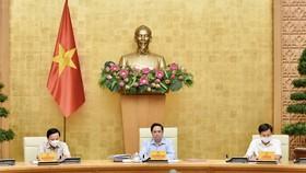 Thủ tướng Phạm Minh Chính chủ trì cuộc họp. Ảnh: VIẾT CHUNG