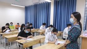 Thí sinh thi kỳ thi tốt nghiệp THPT năm 2021 đợt 1. ẢNH: QUANG PHÚC