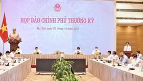 Văn phòng Chính phủ đã tổ chức họp báo Chính phủ thường kỳ tháng 9. Ảnh: VIẾT CHUNG