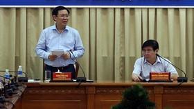 Phó Thủ tướng Vương Đình Huệ làm việc với UBND TPHCM về cải cách chính sách tiền lương, BHXH, ưu đãi người có công
