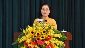 Chủ tịch HĐND TPHCM Nguyễn Thị Lệ phát biểu khai mạc Kỳ họp thứ 20. Ảnh: VIỆT DŨNG