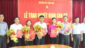 Trao các quyết định nhân sự chủ chốt tại huyện Cần Giờ