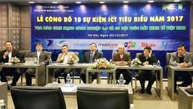 Lễ công bố 10 sự kiện ICT tiêu biểu năm 2017