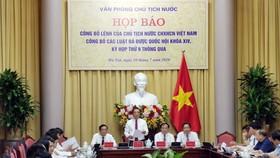 Công bố Lệnh của Chủ tịch nước về 10 luật vừa được Quốc hội thông qua