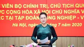 Chủ tịch Quốc hội Nguyễn Thị Kim Ngân yêu cầu Viettel tiếp tục tiên phong kiến tạo cuộc sống số tại Việt Nam