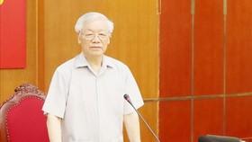 Tổng Bí thư, Chủ tịch nước Nguyễn Phú Trọng đã chủ trì cuộc họp Ban Bí thư để xem xét, thi hành kỷ luật một số cán bộ, đảng viên vi phạm quy định của Đảng và pháp luật của Nhà nước. Nguồn: VGP
