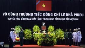 Cử hành trọng thể Quốc tang nguyên Tổng Bí thư Lê Khả Phiêu