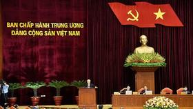 Toàn cảnh phiên khai mạc Hội nghị lần thứ 13 Ban Chấp hành Trung ương Đảng khóa XII, sáng 5-10 tại Hà Nội. Ảnh: VIẾT CHUNG