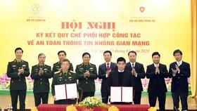 Bộ Quốc phòng và Bộ TT-TT phối hợp bảo đảm an toàn thông tin trên không gian mạng