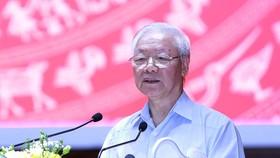 Tổng Bí thư Nguyễn Phú Trọng: Phải lấy cuộc sống bình yên, hạnh phúc của nhân dân làm mục tiêu phấn đấu