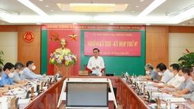 Tại Kỳ họp thứ 7, Ủy ban Kiểm tra Trung ương đề nghị Ban Bí thư xem xét, thi hành kỷ luật Ban Thường vụ Đảng ủy Cảnh sát biển Việt Nam nhiệm kỳ 2015-2020. Ảnh: TTXVN