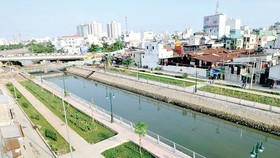U Cay canal in district 8 after rehabilitation (Photo: SGGP)