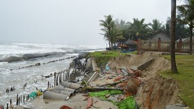 Heavy downpour leaves severe coastal erosion in central Vietnam
