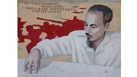 Propaganda posters gifted to the exhibition by artist Le Nhuong