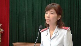 Nguyen Thi Kim Anh, head of the inspector delegation