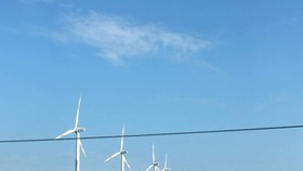 A wind energy project in Ninh Thuan Province (Photo: H.H )