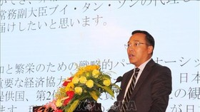 Head of the Foreign Ministry's Consular Department Nguyen Hoang Long at the event (Photo: VNA)