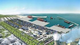 An artist's impression of the logistics center . — Photo quangtri.gov.vn