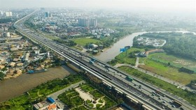 A view of the under-construction first metro line in HCM City.  (Photo vnexpress.net)