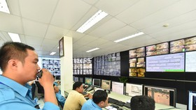 A smart traffic operation center in HCMC. (Photo: SGGP)