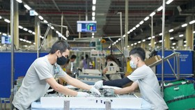 A TV manufacturing line in Samsung Electronics Ho Chi Minh Complex (SEHC), sited in SHTP. (Photo: SGGP)
