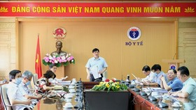 Acting Health Minister Nguyen Thanh Long says at a virtual meeting with hospital leaders (Photo: SGGP)