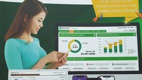 The 'Make in Vietnam' platform for school management. (Photo: SGGP)