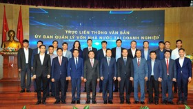 Leaders of CMSC and 19 member enterprises are participating in the conference. (Photo: SGGP)