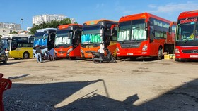 A bus station in Binh Thanh District in Ho Chi Minh City (Photo: SGGP)