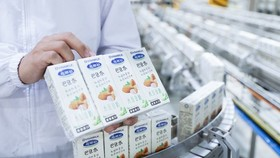 Vinamilk exports ten containers of plant-based milk to China in the early days of 2021. (Photo: VNA)
