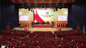 At the 13th National Party Congress's plenary session held in the morning of January 28 (Photo: SGGP)