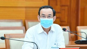 Secretary of Ho Chi Minh City Party Committee Nguyen Van Nen at the meeting (Photo: SGGP)