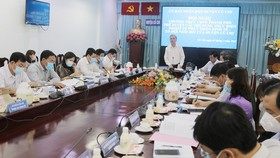 Vice Chairman of Ho Chi Minh City People's Committee Ngo Minh Chau stating at the meeting with leaders of Cu Chi District on March 3 (Photo: SGGP)