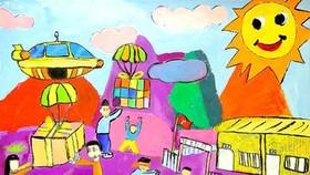 Winning works of Vietnam Children's Fine Arts Awards 2021 on display