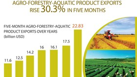 Agro-forestry-aquatic product exports rise over 30 percent