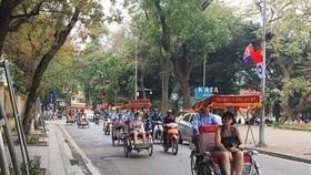 Foreign visitors in Vietnam (Photo: VNA)
