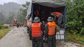 On way to Rao Trang 3 hydropower plant (Photo: VNA)